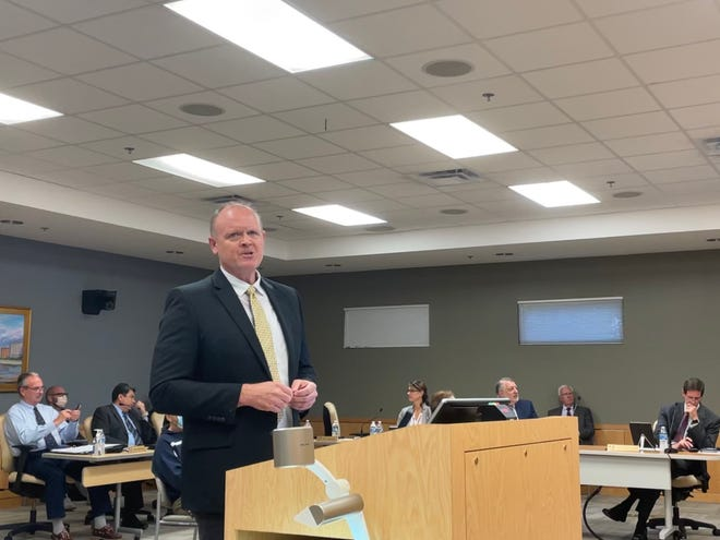Daniel Smith, director of community affairs of the city of Marco Island's growth management department, speaks during a City Council meeting on Feb. 1, 2021.