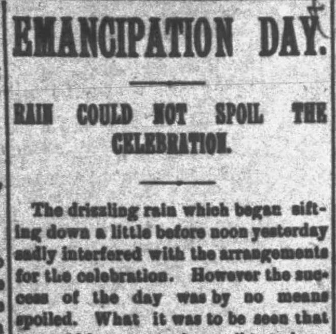 A headline from the Muncie Morning News, Sept. 23, 1887