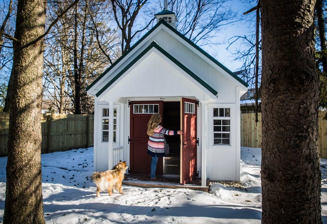 Kelly Brickley built a chapel, complete with a tree-lined walkway, in her backyard in honor of her husband who died last April. Brickley, who is a certified Justice of the Peace,  said she hopes to start hosting weddings and vowel renewals at the site starting this February.