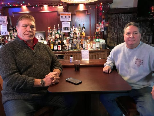 Guy Madsen and Steve Barbarulo at the iconic Patsy's in Paterson. Barbarulo agreed Wednesday take part in best pizza contest to be held Saturday in New Brunswick.