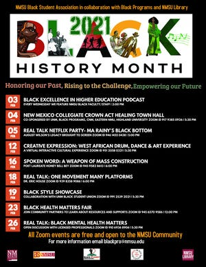 New Mexico State University will commemorate Black History Month with a series of free virtual events that kick off Wednesday, Feb. 3, and continue through Feb. 26. (Courtesy NMSU Black Programs)