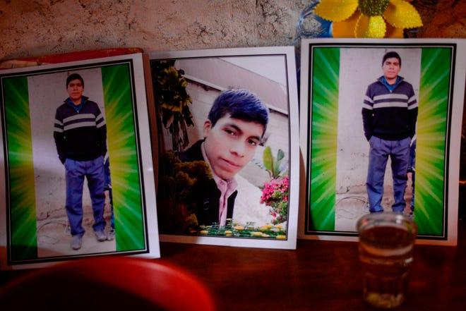 Retrato del migrante guatemalteco Rivaldo Danilo (16 años), que se cree que está entre las 19 personas asesinadas en México.