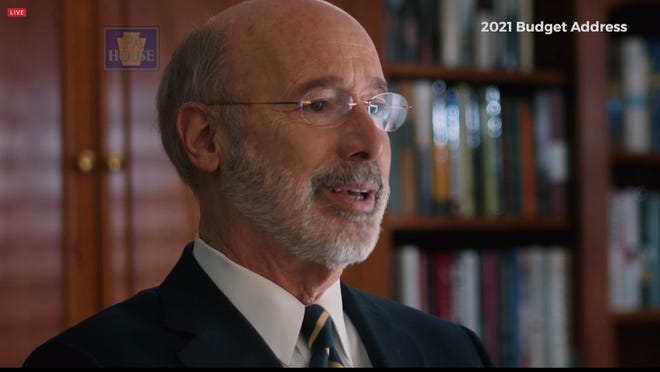 Gov. Tom Wolf delivers his 2021 Budget Address