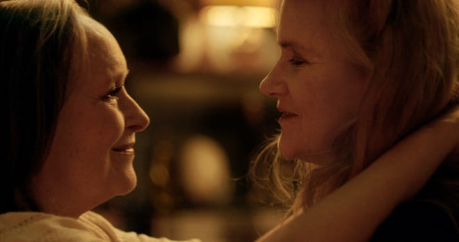 "Martine Chevallier and Barbara Sukowa in ""Two of Us."""