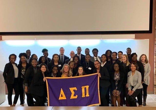 Midwestern State University's Epsilon Zeta Chapter of the national professional business fraternity, Delta Sigma Pi.