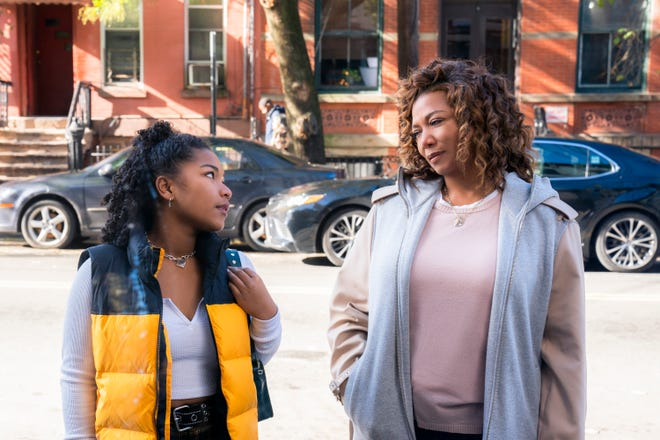 "Queen Latifah as ""The Equalizer"" in a scene with Laya DeLeon Hayes, who plays her teenage daughter, Delilah."