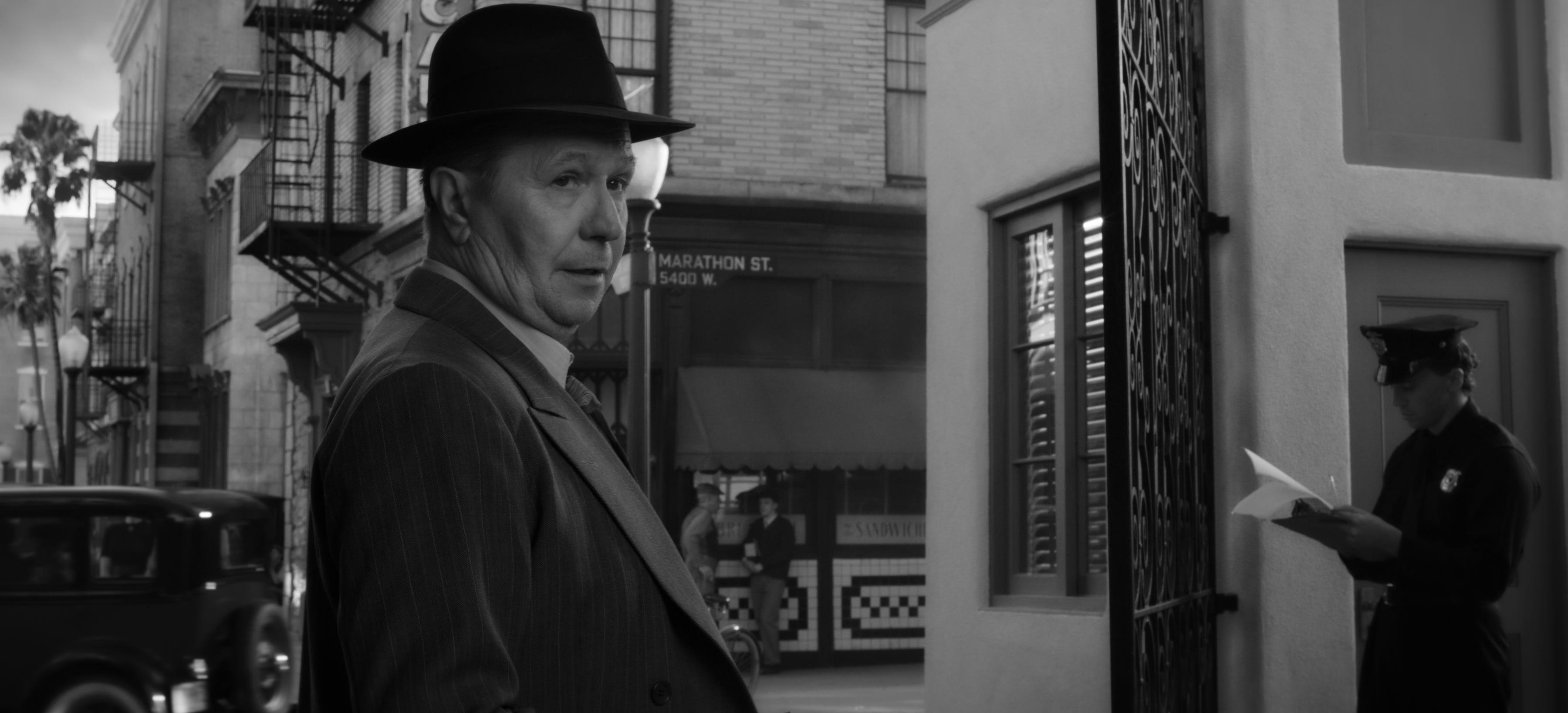 "Gary Oldman stars as screenwriting gadfly Herman Mankiewicz in the Netflix film ""Mank."""