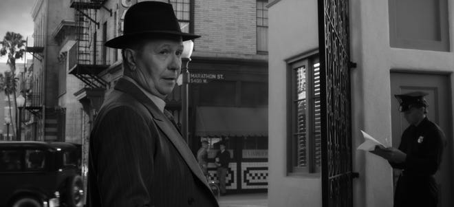"Gary Oldman stars as screenwriting gadfly Herman Mankiewicz in the Netflix film ""Mank."""