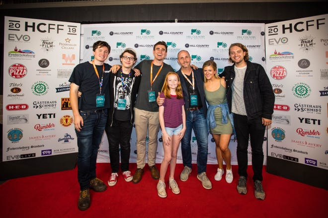 "The red carpet for the film ""The Tiny Life of Butcher Duke,"" which was part of the 2019 Hill Country Film Festival. Organizers plan an in-person festival for 2021 after going virtual in 2020."