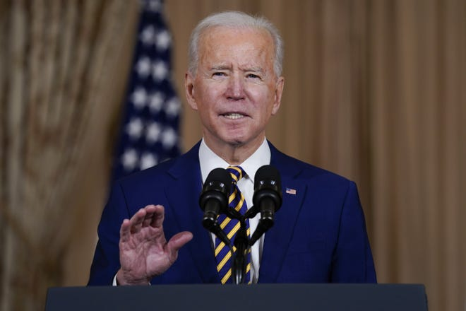 President Joe Biden speaks about foreign policy, at the State Department, Thursday, in Washington. [AP Photo/Evan Vucci]
