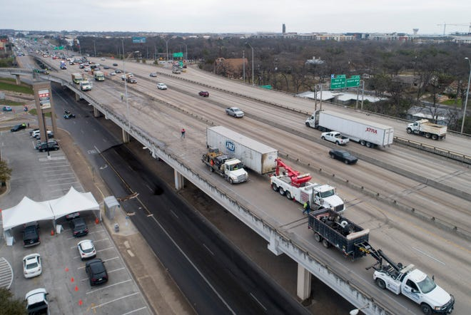 Cleanup continues after a fatal accident involving an 18-wheeler in the 4300 block of southbound Interstate 35 on Thursday February 4, 2021.
