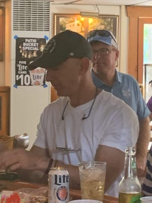 A photo taken of Jeff Bezos when he spent time at Dusty's Landing in New Franklin.