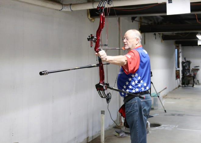 Leon Hutton of Rose Hill won a Kansas Archery Association championship in 2017.