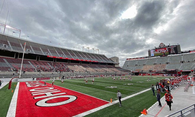 Ohio State's 2020 football opener against Nebraska on Oct. 24 was played before plenty of empty seats at Ohio Stadium because of COVID-19. The 2019 season, however, was unaffected by the pandemic and helped bolster OSU athletics' record revenue in fiscal year 2019-20.