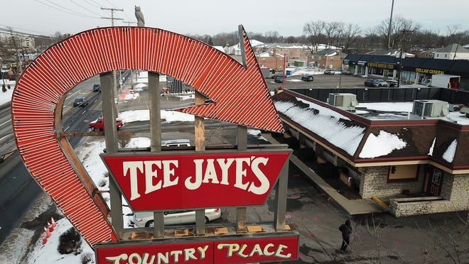 The Tee Jaye's sign at North High Street and Morse Road has stood for decades, but its fate is in question with a new property owner.