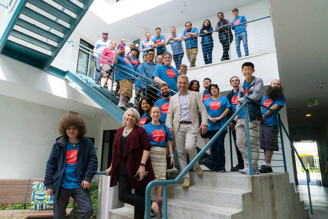 The Los Angeles staff at Auticon, a company that hires people with autism as IT consultants. Auticon is hiring in Columbus.