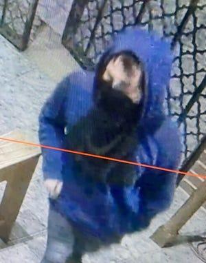 A closer image of the church burglary suspect.