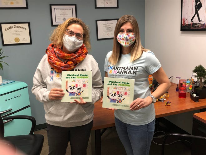 Former Lake County school psychologists Abby Hartmann, left, and Melanie Hannan wrote 'Pickford Panda and the Pandemic' to help alleviate children's fears about going back to the classroom.