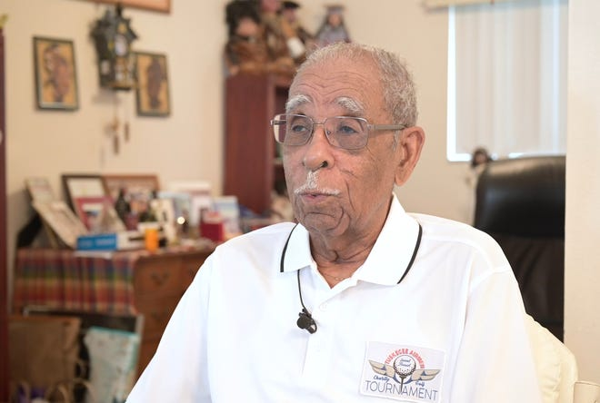 Daniel Keel, a World War II triple-rated Tuskegee pilot, navigator and bomber, talks about his time serving as an officer.