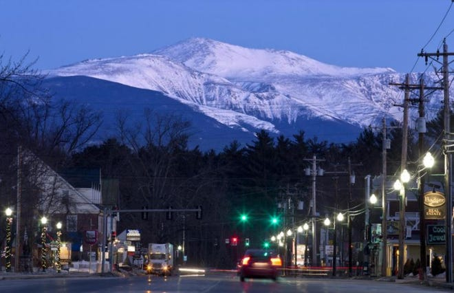 Mount Washington is seen from North Conway in March 2015.