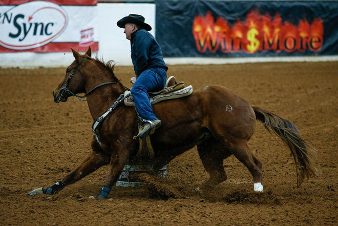 Ty Mitchell, riding Cody, recorded a time of 15.666 seconds during Sunday's The Richest Dinosaur barrel racing event held Jan. 28-31 at the Somervell County Expo Center. Monday Rodeo will be held Feb. 8 and Feb. 15, and Expo Barrel Jackpot will be held each Wednesday in February. Check out www.glenroseexpo.org for more events.