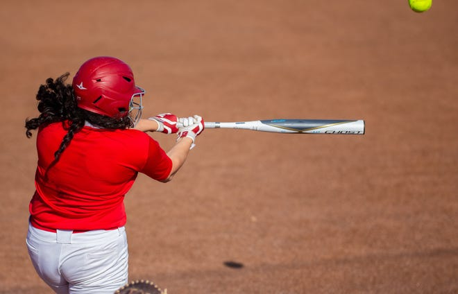 Glen Rose infielder Catalina Sanchez belted a homer for the Lady Tigers in their scrimmage with Grandview on Saturday.