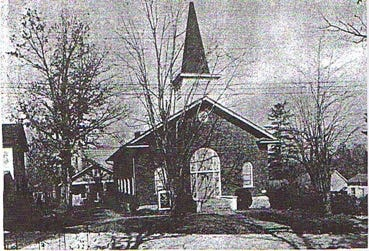 The second sanctuary building for St. Paul Tabernacle AME Zion Church, constructed in 1920.