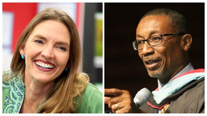 Jennifer Canady, left, and Lakeland City Commissioner Phillip Walker are running for the District 40 Florida House seat.
