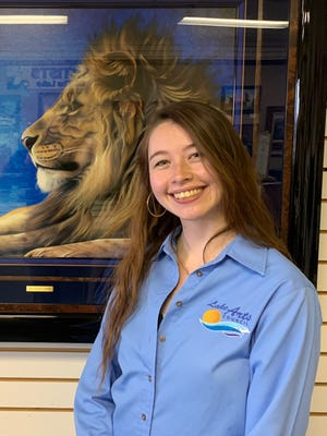 New administrative assistant Morgan Moffitt took over the day-to-day running of the Lake Arts Council on January 4.