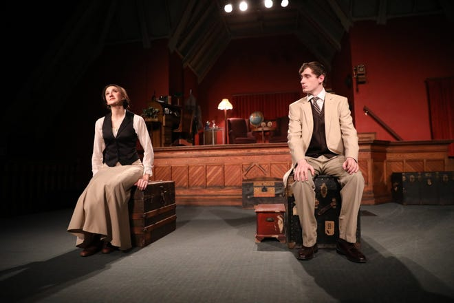 "Marilla Gonzalez of Geneva and Damon Fletcher of Seneca Falls in a scene from ""Daddy Longlegs."" Theatre 444 is offering on-demand viewing of the November production until Feb. 28"