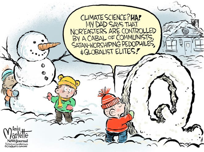 An Andy Marlette cartoon about conspiracy theories