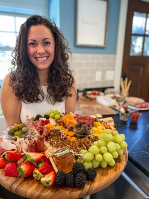 Personal chef Elena Faltas of York is offering her favorite creation, graze boards, to local residents for Super Bowl Sunday this weekend. (Photo by Ashley Owen)