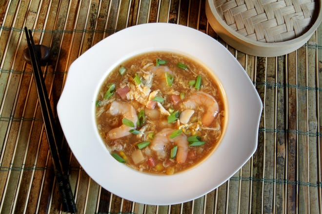 Chinese Velvet Soup can be made for the Lunar New Year. It's the Year of the Ox.