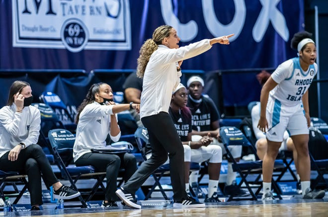 URI women's basketball coach Tammi Reiss and the Rams face a challenging early conference schedule, welcoming Atlantic 10 champion Dayton to the Ryan Center.