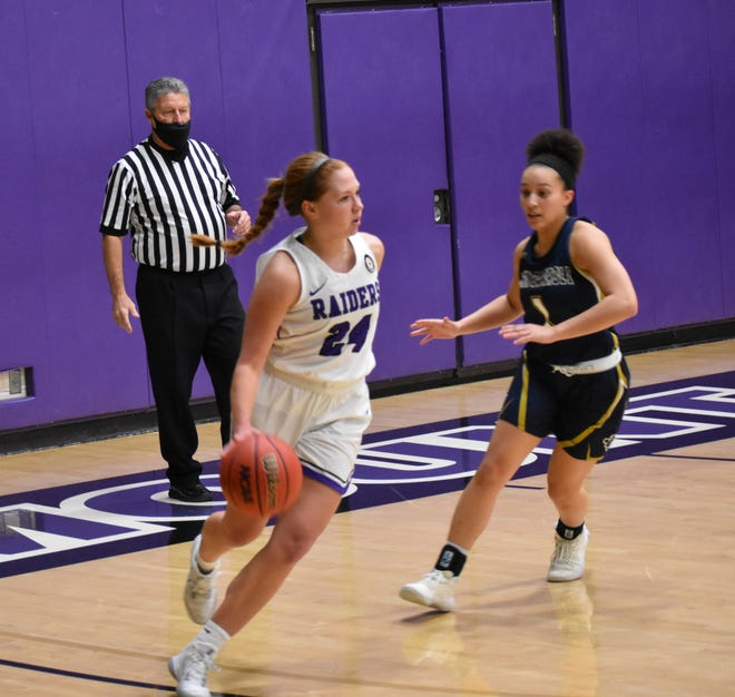 Green graduate Kelsie Glass, a sophomore at Mount Union, has increased her scoring average from 3.5 points per game as a freshman to 14.3 points per game over the Purple Raiders' first four games.