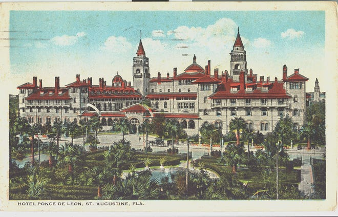 A postcard of the Ponce de Leon from the time of Harding's visits.