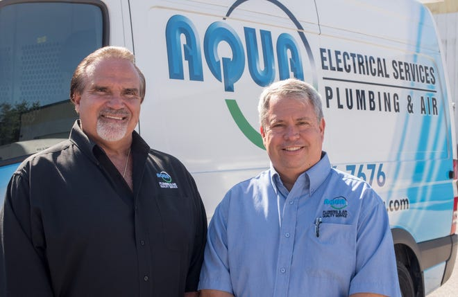 "Skip Stanton and Chuck Jacobson are co-owners of Aqua Plumbing & Air. ""We are committed to improving the lives of our customers while also supporting our community and giving back,"" Stanton said."