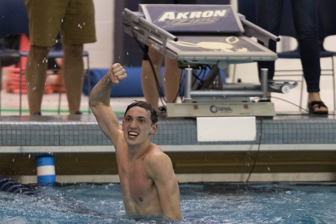 Jackson graduate Jason Tondra earned Ohio Athletic Conference Swimmer of the Week honors after first place finishes in three events against Baldwin-Wallace in the season opener.