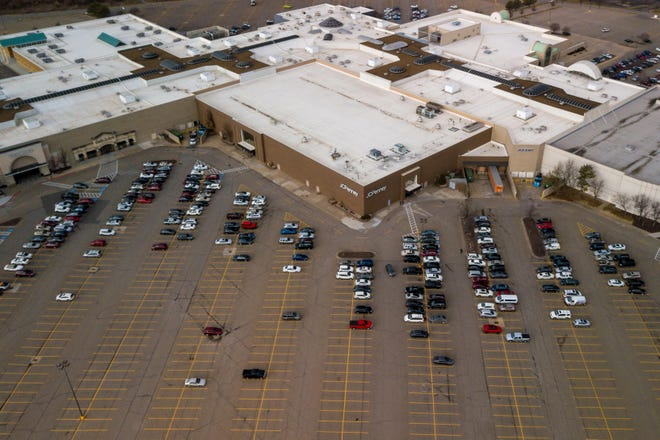 A bomb threat early Wednesday evening forced the temporary evacuation of the West Ridge Mall, shown here in a December 2019 file photo at 1801 S.W. Wanamaker Road.