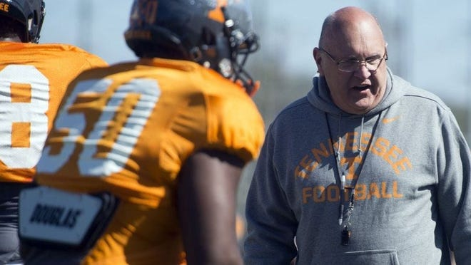 Mike DeBord, who previously served as offensive coordinator at Tennessee, Michigan and Indiana, was introduced Wednesday as Kansas football's new play caller.
