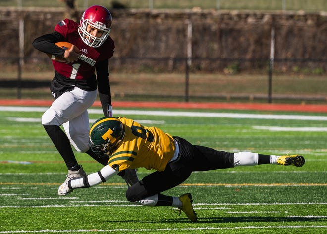 Fitchburg's Montgomery Graham called the signals for a 430-yard running attack last weekend.