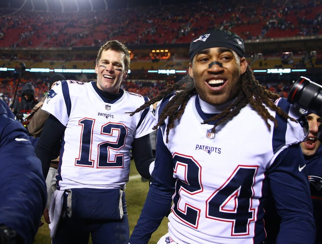 As Patriots, Tom Brady and Stephon Gilmore teamed up to beat the Chiefs in the 2018 AFC Championship Game, and Brady, now as a Buc, faces the same opponent Sunday in Super Bowl LV.