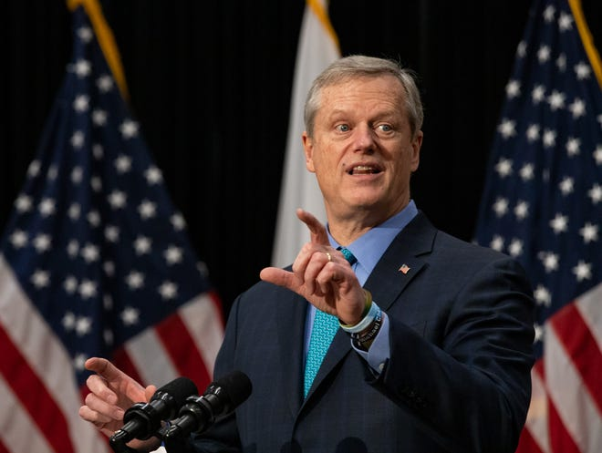 Gov. Charlie Baker announced Thursday that capacity limits for certain businesses including restaurants will bump up to 40% starting Monday.