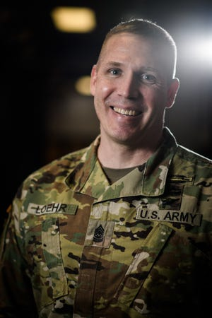 Fort Bragg's new garrison Command Sgt. Maj. Jeffrey A. Loehr.