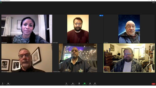 A virtual meeting on Feb. 3, 2021 of the Law Enforcement Legislative Reform Committee of the North Carolina Democratic Party Progressive Caucus.