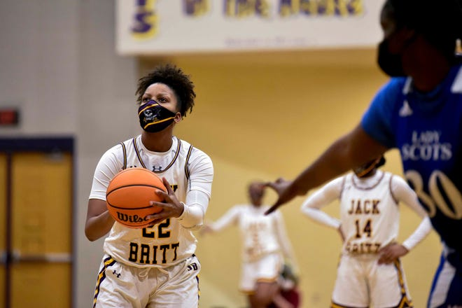 Jack Britt senior Ashara Hayes, 22, loves basketball and Fayetteville, so she recently made the choice to continue her career at Fayetteville State University.