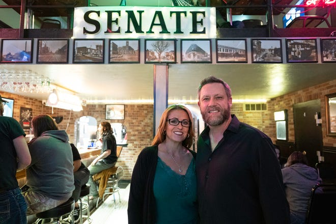 Gena Rosales, left, and Ken Sciacca are co-owners of The Senate Bar and Grill,  219 S. Grand Ave.