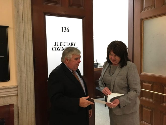 House Judiciary Committee Chair Claire Cronin met privately with District Attorney Michael W. Morrissey on the public hearing date for his bill to expand the state expungement statute, eliminating barriers to employment and training for some who made a single, nonviolent mistake in their youth.