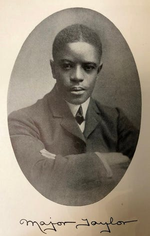 "A photo of Marshall ""Major"" Taylor - first Black championship cyclist and sprinter."