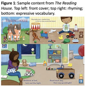 'The Reading House' is a tool pediatricians can use to assess young children's readiness to read. It was developed by a Cincinnati Children's Hospital Medical Center team led by Dr. John Hutton.
